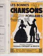 40 60 LES BONNES CHANSONS POPULAIRES 06/1950 PARTITION +THÉÂTRE BROCA LANGRES 52200 PIERRE ABRIOUX Escargot Lapin Clown - Música & Instrumentos