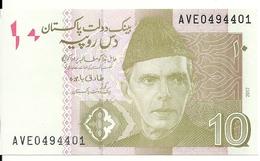 PAKISTAN 10 RUPEES 2017 UNC P 45l - Pakistan