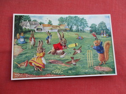 Signed Artist  Racey Helps Humanized  Rabbits  --  Hit For Six > Ref  3466 - Otros