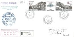 TAAF - Dumont D'Urville-T.Adélie: Lettre Avec Tryptique Poste Aérienne N°94A Hommage à Charcot - 16/09/1986 - French Southern And Antarctic Territories (TAAF)