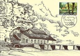 26.6.1986  -  GANTEBEENSMILLEN - Déi Al Millen Em 1920 - Dessin  Marianne Marx - Cartes Maximum