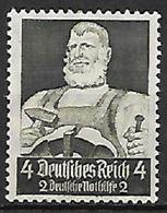 GERMANIA REICH TERZO REICH 1934 SOCCORSO INVERNALE UNIF. 514 MLH VF - Usados