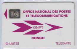 Congo - ONPT 100 U Violette - SC4 An S/E ¤6 - 40487 GE - Voir Scans - Kongo