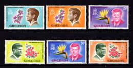 GRENADA    1968    50th  Birth  Anniv  Of  President  Kenedy   Set  Of  6    MH - Grenada (...-1974)