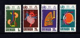GRENADA    1968    20th  Anniv  Of  World  Health  Organization    Set  Of  4    MH - Grenada (...-1974)