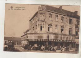 """NIEUPORT - Café """" Au Bon Coin """" Et La Gare - Carte Rare - Nieuwpoort"""