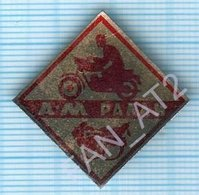 USSR / Badge / Soviet Union / UKRAINE. Motorcycling . Moto. Moto Rally 1972 - Badges