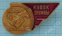USSR / Badge / Soviet Union / UKRAINE. Motorcycling . Moto. Speedway Friendship Cup. Rovno 1986 - Badges