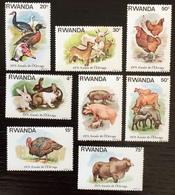 Rwanda 1978; Animals & Fauna; Mammals; MNH / ** VF; CV 12 Euro; - Farm