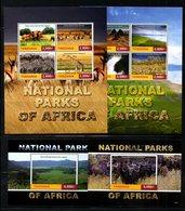 TANZANIA ,2016, NATIONAL PARK, ANIMALS,  2 M/S+2S/S, MNH** - Stamps