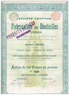 Action Ancienne - Société Anonyme Pour La Fabrication Des Bouteilles à Odessa - Titre De 1896 - Russie