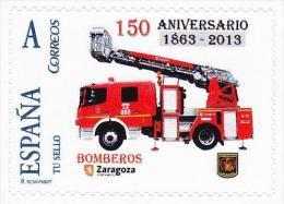 Spain 2014 - 150 Aniv. Bomberos Zaragoza Mnh - Feuerwehr