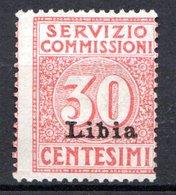 LIBYE - (Colonie Italienne) - 1915 - Timbre De Service - N° 1 - 30 C. Rouge - Libyen