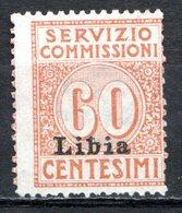 LIBYE - (Colonie Italienne) - 1915 - Timbre De Service - N° 2 - 60 C. Brun Clair - Libyen