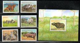 TANZANIA ,2004, WILD ANIMALS, 6v.+M/S, MNH** - Stamps