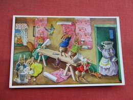 Signed Artist Racey Helps Humanized Rabbits   The Paperhangers   > Ref  3466 - Otros