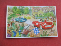Signed Artist Racey Helps Humanized Rabbits  The Motor Race    > Ref  3466 - Otros