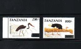 TANZANIA ,1998-2001, BIRDS,  O/P Of NEW VALUE, 2v.MNH**RARE! - Birds