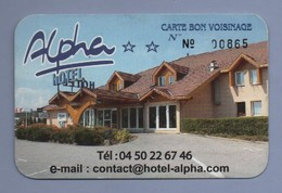 74 - HOTEL ALPHA 74330 EPAGNY  - CARTE DE VISITE - Visitenkarten