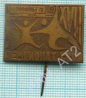 USSR / Badge / Soviet Union / UKRAINE. Handball. National Championship. Zaporozhye 1978 - Handball
