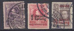 SIAM - 1926/1927 - Lotto Di 3 Valori Usati: Yvert 190 E Serie Completa 191/192. - Siam