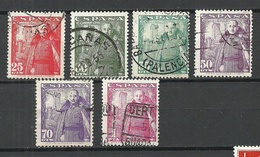SPAIN Espana 1948/54 Generalissimus Fr. Franco, 6 Stamps, O - 1931-Heute: 2. Rep. - ... Juan Carlos I
