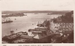 Queenstown (now Cobh) Ireland, View Of Cork Harbour, Ship Docks, C1910s/20s Vintage Real Photo Postcard - Cork