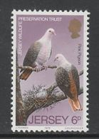 TIMBRE NEUF DE JERSEY - COLUMBA MAYERI (PIGEON ROSE) N° Y&T 201 - Pigeons & Columbiformes