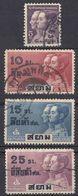 SIAM - 1932 - Lotto Di 4 Valori Usati: Yvert 215/218. - Siam