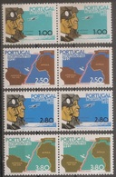 Portugal 1972 - Dupla Série Completa Travessia Aérea Lisboa Rio Janeiro 1171 A 1174 - Set Complete - Mint MNH** Neuf - Neufs