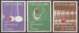 Portugal 1972 - Série Completa Mes Do Coração 1149 A 1151 - Set Complete Month Of The Heart - Mint MNH** Neuf - Neufs