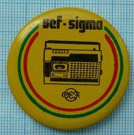 USSR / Badge / Soviet Union / LATVIA Riga Electrotechnical Plant VEF Sigma Radio Receiver 1970s - Administrations
