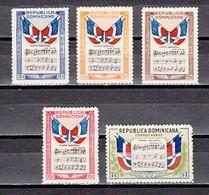 Dominican Rep., Scott Cat. C57-C61. National Anthem Issue. - Muziek