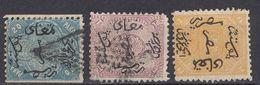 EGITTO - 1866 - Lotto Di 3 Valori Usati Di Seconda Scelta: Yvert 3/5. - Egitto
