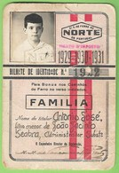 Porto - Vale Do Vouga - Passe Do Caminho De Ferro - Bilhete - Railway Ticket - Billet De Chemin De Fer - Train Portugal - Abonnements Hebdomadaires & Mensuels