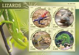 Sierra Leone   2016  Fauna  Lizards - Sierra Leone (1961-...)
