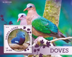 Sierra Leone   2016  Fauna  Doves - Sierra Leone (1961-...)