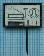 USSR / Badge / Soviet Union / UKRAINE. Factory Mayak. Radio Assembly Shop 10 Years. Radio Receiver. Kiev 1970s - Administrations