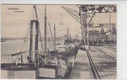 Düsseldorf - Hafenpartie - 1909 Eisenbahnanlagen, Waggons, Frachtdampfer, .. - Düsseldorf