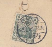 Lochung (Perfin) L&C Und Spiegelverkehrt Aus CÖLN 1909 + 1911 / Aktenlochung - Allemagne