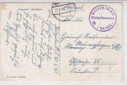 """Feldpost Vom M24104 - 44.MS -Flottille M """"1406"""" 21.1.40 Von Helgoland - Briefe U. Dokumente"""