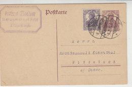 Ganzsache Mit Zusatzfrankatur Aus PRITZWALK 8.7.20 Nach Wittstock - Deutschland
