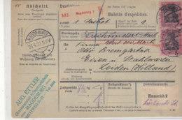 Paketkarte Aus MAGDEBURG 23.4.20  über Emmerich Nach Leiden / Holland - Briefe U. Dokumente