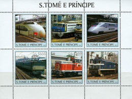 Sao Tome  2003  Trains And TGV Trains - Sierra Leone (1961-...)