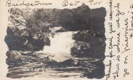 Bridgetown Nova Scotia Canada, Walker Falls Waterfall, C1900s Vintage Real Photo Postcard - Nova Scotia