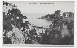 MONACO - N° 1311 - LE RAVIN DE SAINTE DEVOTE AVEC TRAIN - CPA NON VOYAGEE - Mónaco