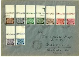 Generalgouvernement GG MiNr. Dienst D16-24, Oberrand, Auf Brief, Zakopane - Occupation 1938-45