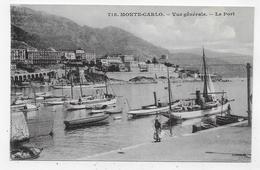 MONTE CARLO - N° 718 - VUE GENERALE - LE PORT AVEC PERSONNAGE - CPA NON VOYAGEE - Harbor