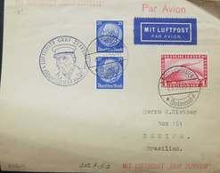 O) 1933 GERMANY, GRAF ZEPPELIN CROSSING OCEAN - SC C35 1m, PRES. VON HINDENBURG SC 395, NICE CANCELLATION FERDINAND VON - Germany