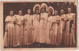 (PDD)LOIRE , BELMONT DE LA LOIRE , Grande Fête De Bienfaisance , 17 & 18 Juillet 1948, Reines Et Demoiselles D'honneur - Belmont De La Loire